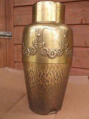 German Hand-Hammered Arts & Crafts Vase - WMF -  No.152 2