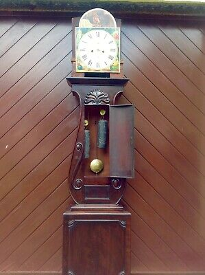 19th Century Mahogany Lyre Shaped Scottish Longcase Clock 10