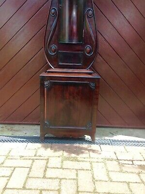 19th Century Mahogany Lyre Shaped Scottish Longcase Clock 4