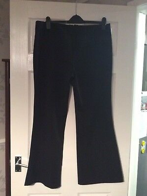 Dorothy Perkins Black  Trousers Size 16 Vgc 2