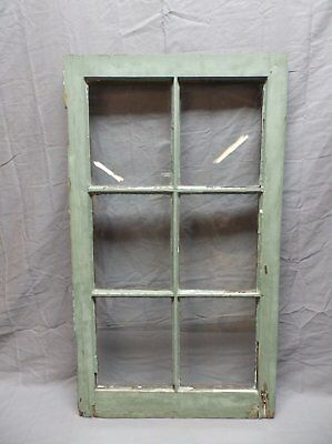 Antique 6 Lite Window Sash 35x20 Casement Sunroom Architectural Old Vtg 625-18P 6