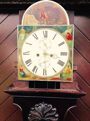 19th Century Mahogany Lyre Shaped Scottish Longcase Clock 8