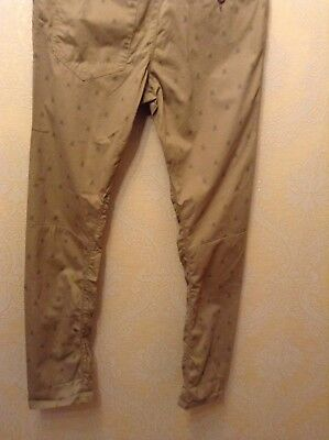 BNWT ⭐️Next ⭐️Age 12 Boys Girls Skinny Beige Nude Chino Scull Print Trousers New 6