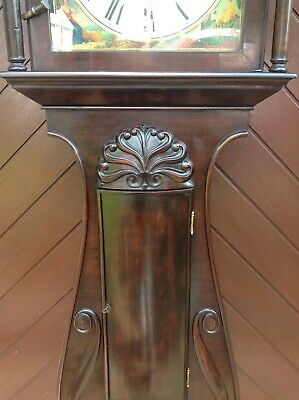 19th Century Mahogany Lyre Shaped Scottish Longcase Clock 3