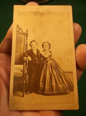 Rare Antique Victorian Era Photograph Of General Tom Thumb & Wife Lavinia Warren 9