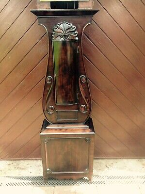 19th Century Mahogany Lyre Shaped Scottish Longcase Clock 2