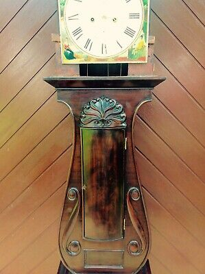19th Century Mahogany Lyre Shaped Scottish Longcase Clock 9