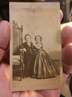 Rare Antique Victorian Era Photograph Of General Tom Thumb & Wife Lavinia Warren 2