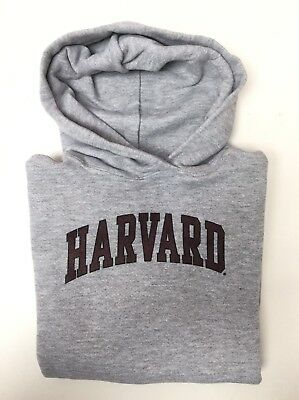 Harvard Crimson NCAA Youth Kids Printed Grey Pullover Hoodie Size XS–S–M–L–XL