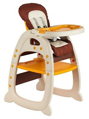 FoxHunter Baby Highchair Infant High Feeding Seat 3in1 Toddler Table Chair New 2