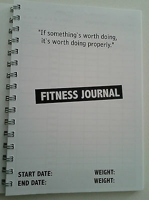 fitness book journal workout tracker gym diary personal trainer tool