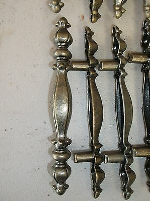 """(4) Vintage Drawer Pulls Handles 5 1/4"""" Plate Mounts 3"""" Off Center 2"""
