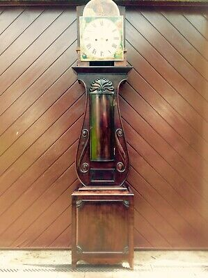 19th Century Mahogany Lyre Shaped Scottish Longcase Clock 7