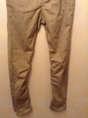 BNWT ⭐️Next ⭐️Age 12 Boys Girls Skinny Beige Nude Chino Scull Print Trousers New 3