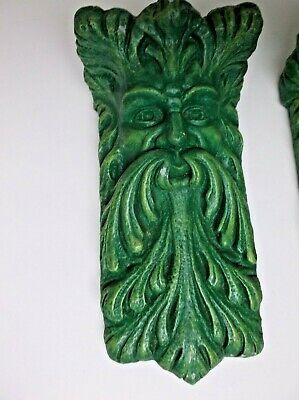 Vintage Corbels by Accents Unlimited Gothic Wall Shelf Bracket Pair Forest 5