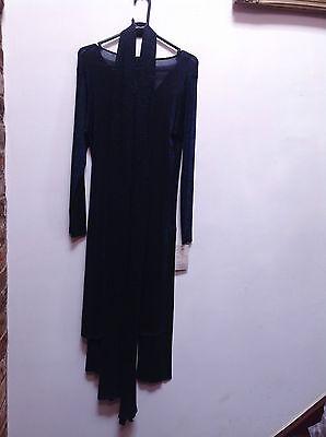 Asian Blue Jersey Sparkle Trouser Suit   Small   Ret £115     Bnwt 4