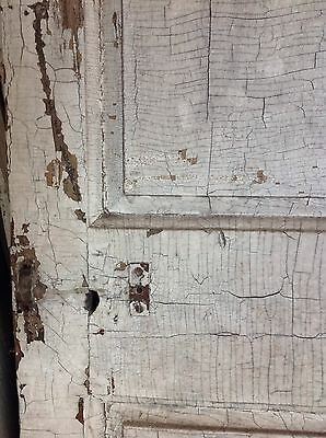 Antique Door New England 18th Century Interior 4 Raised Panel Door H L Hinges X 2