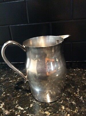 "Leonard silver plate pitcher / jug. Approx 7,5"" high 2"
