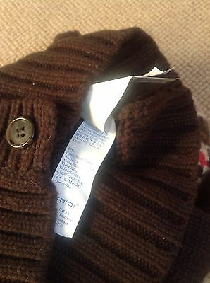 Okaidi Wool Hooded Cardigan, Age 4, Brown, French Designer, Exc Condition! 4