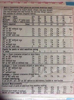 VTG 74 SIMPLICITY 6793 Misses Unlined Cardigan Top Skirt & Pants PATTERN 12/34B 2