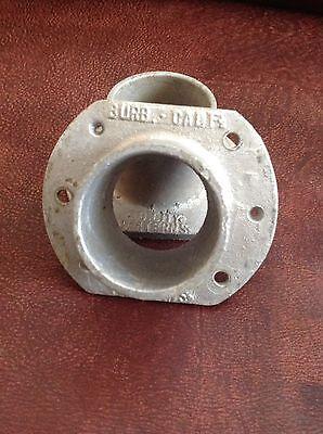 "Vintage 2"" Aluminum Lever Rod Rail End Brackets (2) Burbank California USA 5"