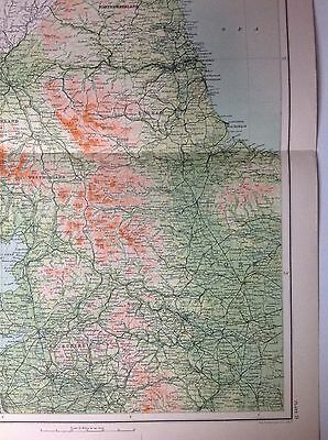 Geographical Features Of England & Wales 1 Antique Map c1898 Bartholomew Large 3