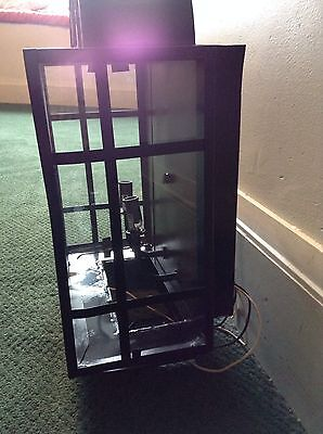 """Large Black Metal Outdoor Sconce Arched Top With Glass 18"""" X 12""""  Light Fixture 5"""