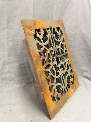 Antique Cast Iron Decorative Heat Grate Floor Register 8X10 Vintage Old 13-19D 6