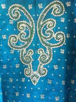 Green Gold Pearl Design Salwar Kameez Stiched Suit Size L 4
