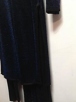 Asian Blue Jersey Sparkle Trouser Suit   Small   Ret £115     Bnwt 5