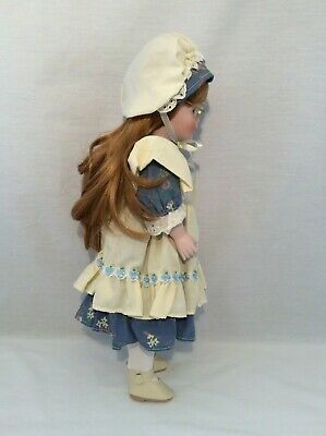 "Vintage CHSN La Collection Artisan 1990 ANNIE LAURIE 14"" doll limited edition 7"