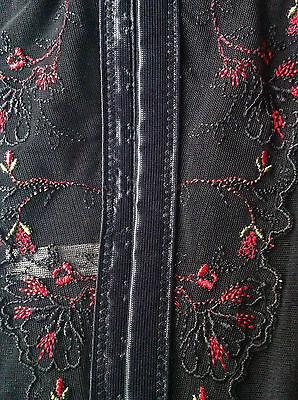 Korsage 70 C aufwendige Blumenstrickerei,geformte Körbchen, Farbe, schwarz 4
