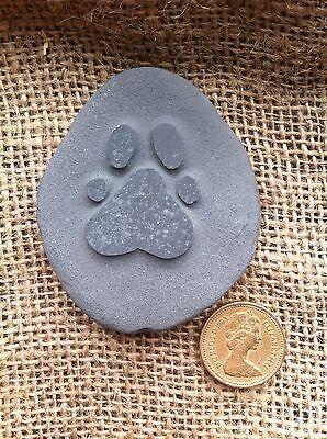 Hand made & carved Pet memorial pebble, garden, unique, plaque, cat, dog 2