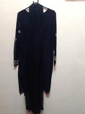 Blue Salwar Kameez Suit & Dupatta   Medium   Ret £250   Bnwt 3