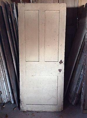 ANTIQUE DOOR NEW ENGLAND 18th CENTURY INTERIOR 3 RAISED PANEL DOOR 4