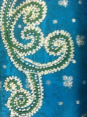 Green Gold Pearl Design Salwar Kameez Stiched Suit Size L 5