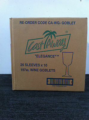 Wine Goblets 197 ML Clear plastic 250 pieces / Carton ( 25 sleeves x 10 pcs ) 6