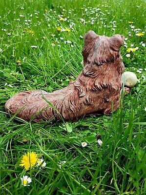 Beautiful Border Collie Dog Statue