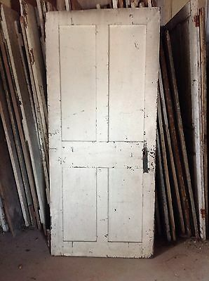 Antique Door New England 18th Century Interior 4 Raised Panel Door H L Hinges X 4