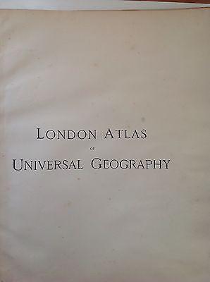 Stanford's Map England Wales c1880 London Atlas Universal Geography Origina Rare 2