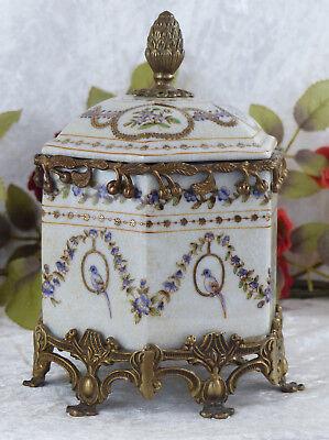 Porzellan Dose Bonboniere Bronze Prunkgefäß Deckeldose Schatulle Antik Urne Neu
