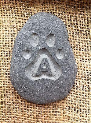 Hand carved pet memorial garden stone, personalised, unique, plaque, cat, dog 6 • EUR 5,47