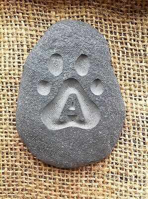 Hand made & carved Pet memory pebble, garden memorial, unique, plaque, cat, dog 5