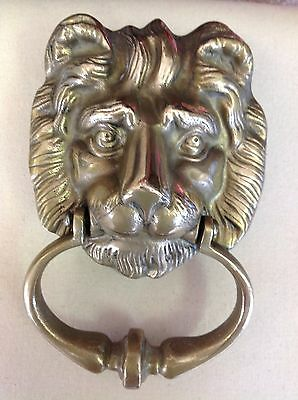 Vintage Solid Brass Lion Door Knocker. VERY NICE! 3