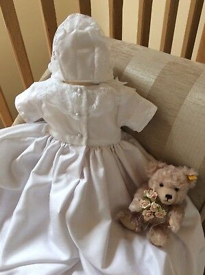 LACE DEDICATION GIRLS BAPTISM DRESS CHRISTENING GOWN BABY BONNET NAMING