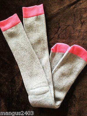 Girls Warm Comfy Thermal Ski Hiking Welly Boot Socks Cushioned Grey Pink Camo 2