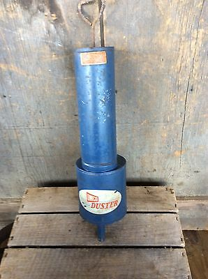Vintage Unico Duster Garden Spray Farm Fumigator Blue Nice Decor 2