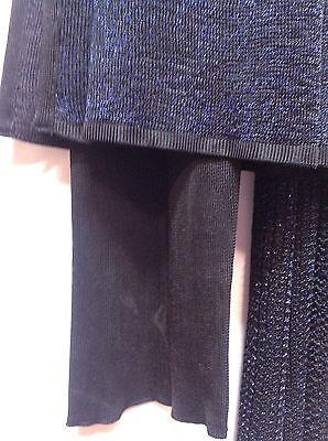 Asian Blue Jersey Sparkle Trouser Suit   Small   Ret £115     Bnwt 6 • EUR 38,29