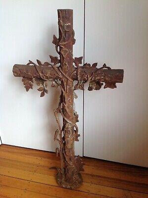 cast iron cross crucifix French 9