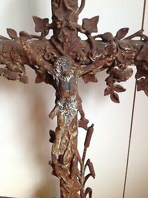 cast iron cross crucifix French 3